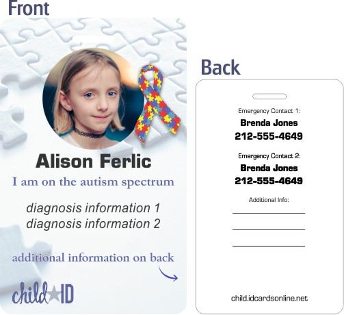 Autism Child ID template