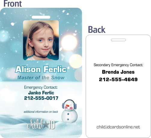 Frozen Child ID template