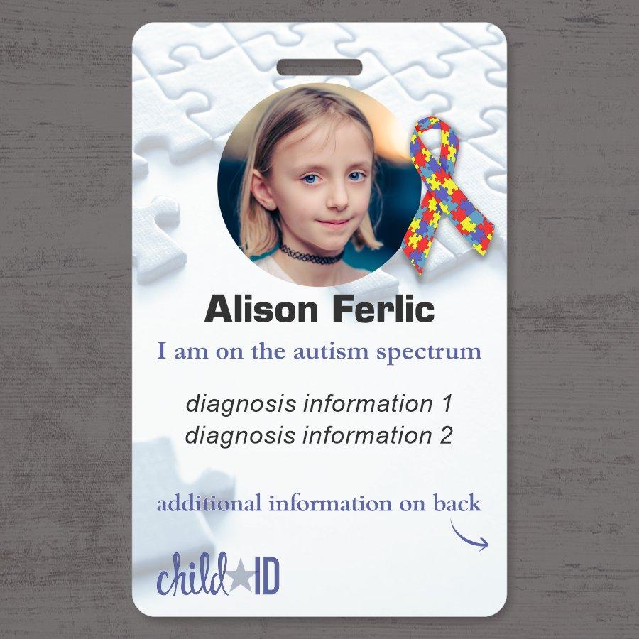 Child ID Autism front