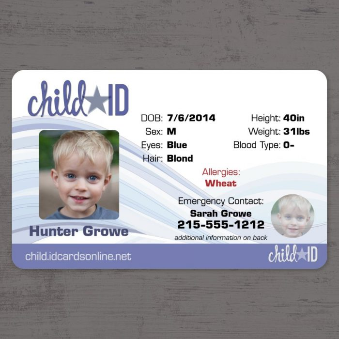 Child ID Classic Front