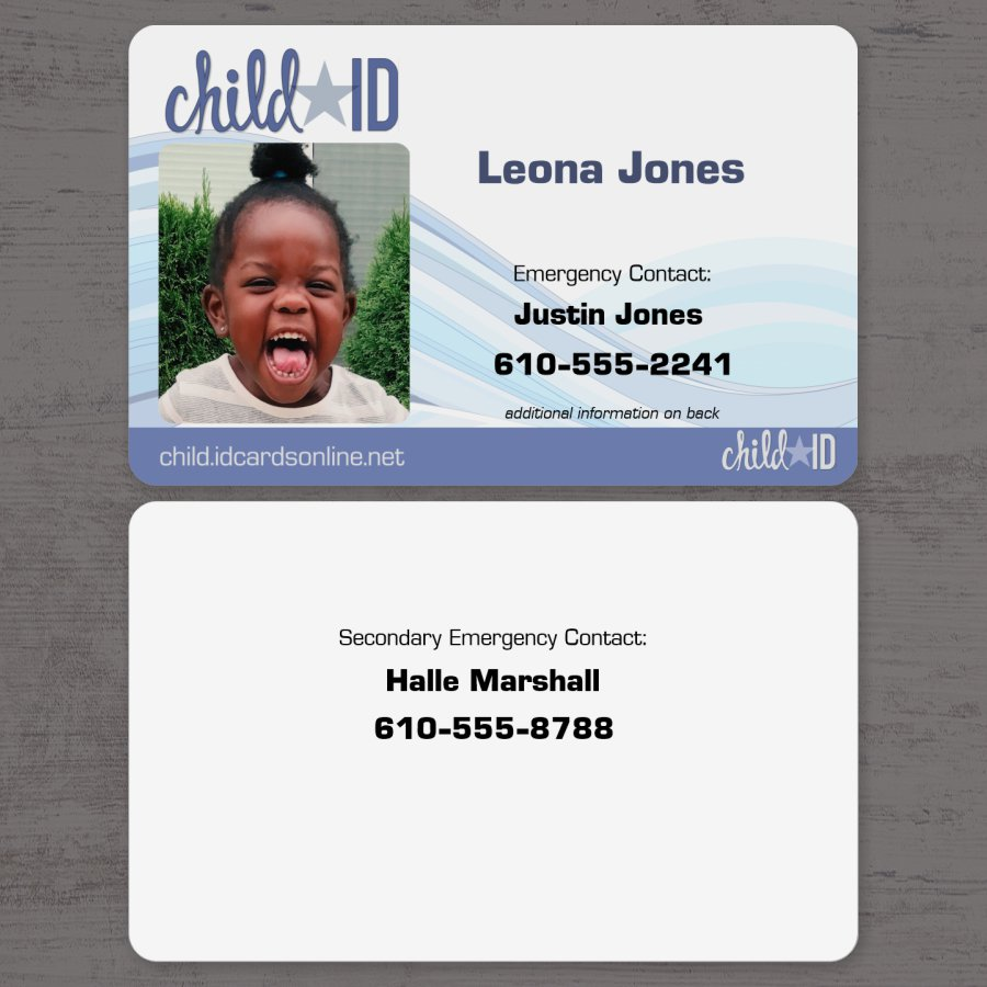 Child ID Simple Front and Back