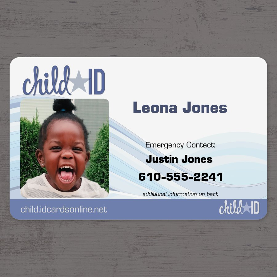 Child ID Simple Front