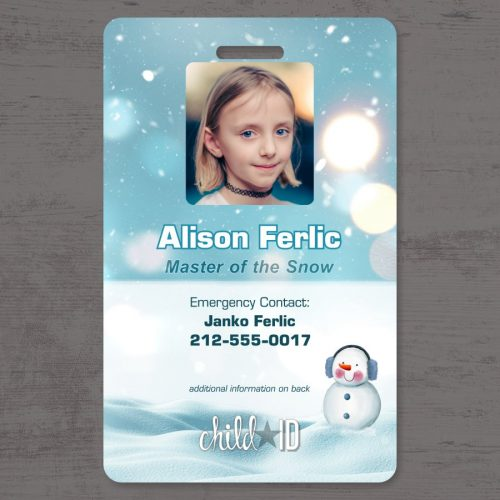 Child ID Snow front