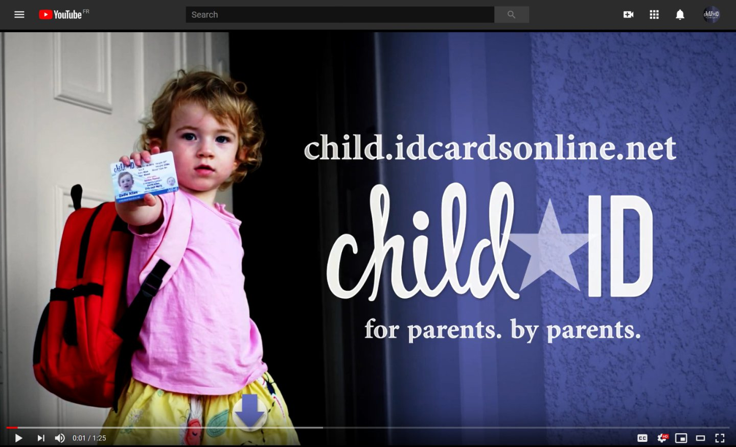 Child ID Cards video YouTube Screen Shot